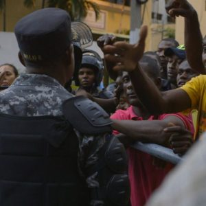 Military going against protest and unrest of Haitian and Dominican people.