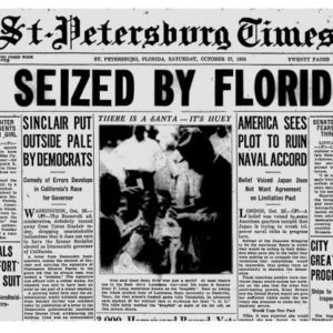 Archived headline of Claude Neal's hanging.